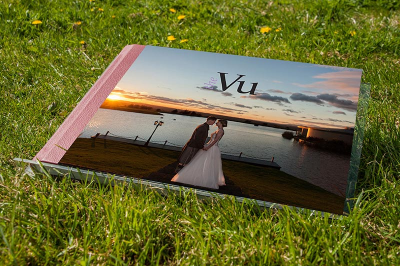 A sample wedding album supplied by GO4 Productions of the Vu wedding venue